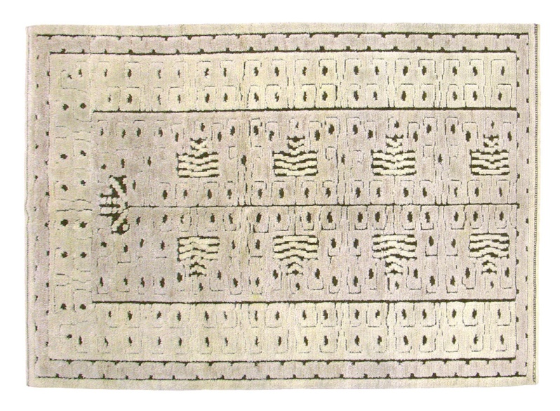 shabaz afridi N857-MMF white pile-2.57-x-1.72-metres