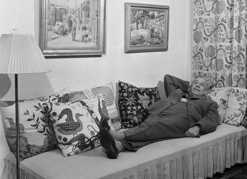 Josef Frank at home in Stockholm Rindögatan Svenskt Tenn