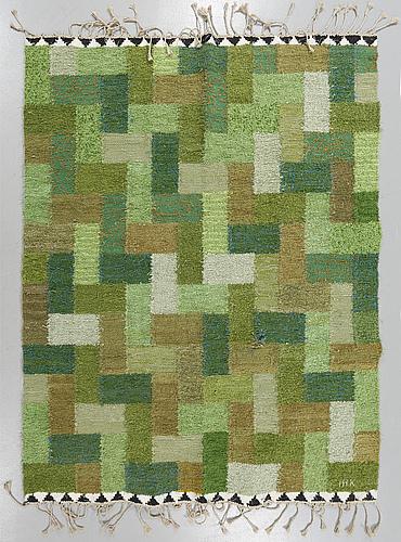 11a- Ingrid Hellan Knafve rag rug IHK 1960s-70s 185x155 B10_22_16 about 1000sek?