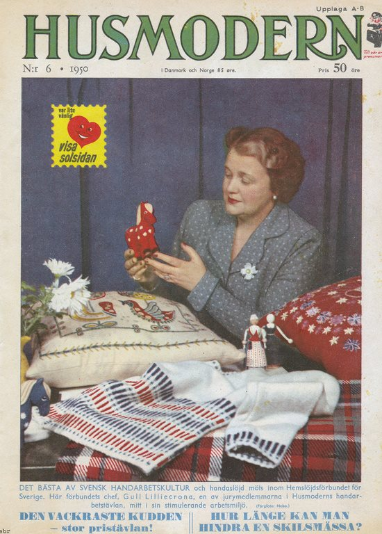 2. 1950 no 6 issue of HusModern Gull Lillicrona on cover