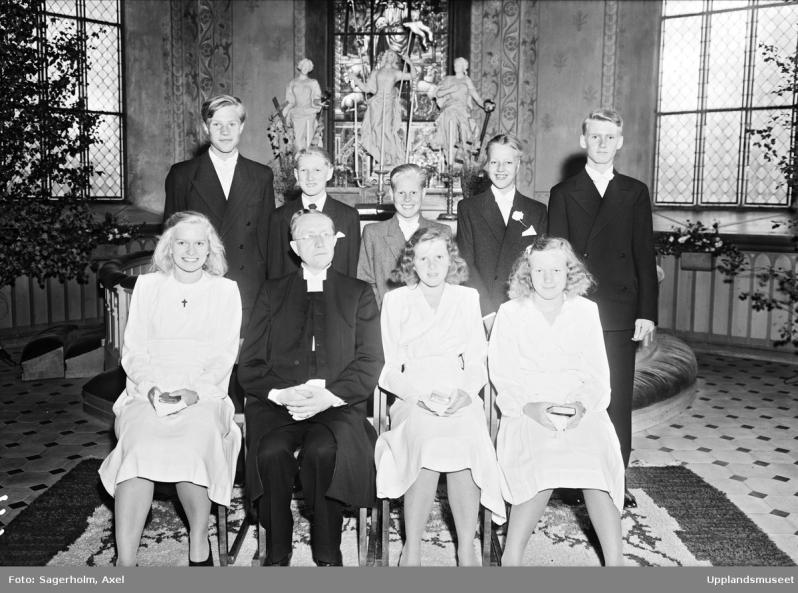 28.July1947 condfirmants in DanmarkskyrkaAS02461