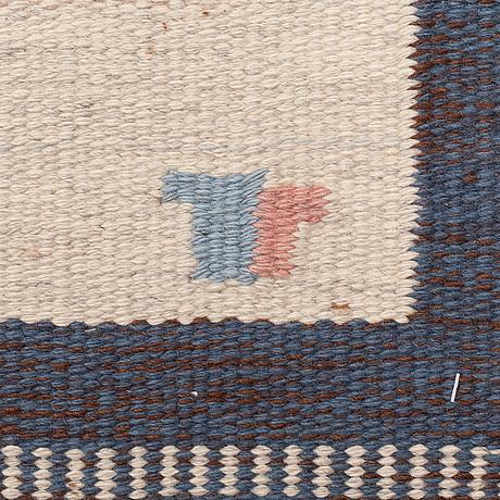 "1-""Skogsstjärna blå"", flat weave, ca 327,5 x 197,5 cm, Buk 3-17-118"