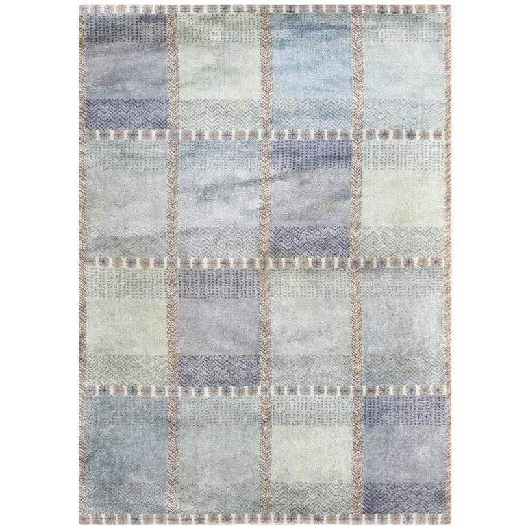 """65""""Glan bla""""MR Glan 5 ft. 4 in.Wx7 ft. 5 in.L 163 cmWx226 cmL sold first dibs as handknotted rug"""
