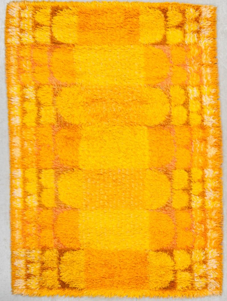 """79 """"Vättern""""Rya, 1900-talets andra hälft. Ca 190 X 136 cm. Buk 7-17-2013"""