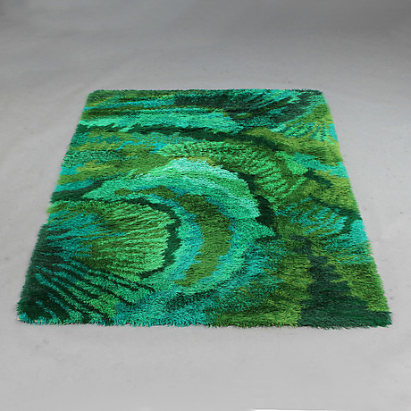 """81""""Kaskad"""", Marianne Richter, Wahlbecks Rya, 165x235 cm. Goteborgs Auktionsverk 4-19-17"""