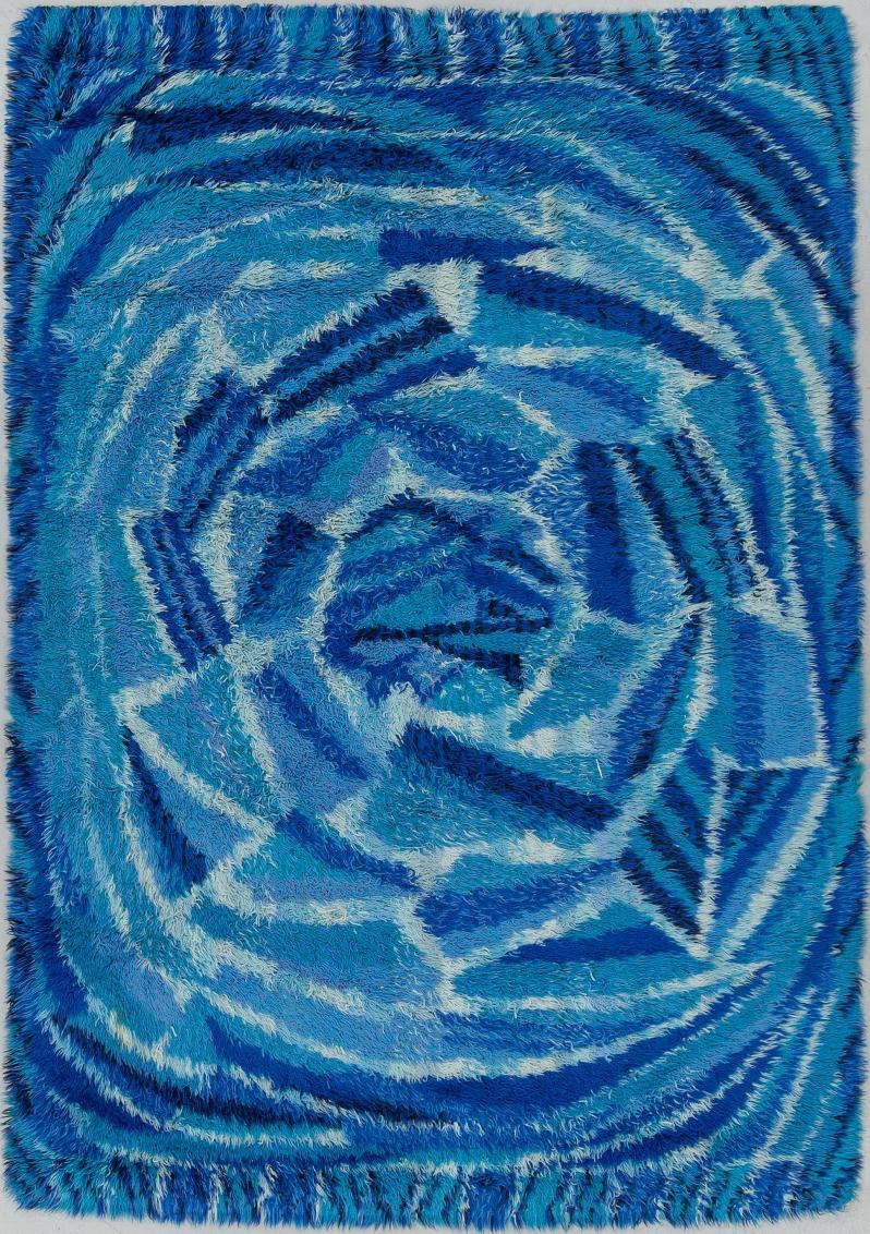 """Marianne RichterA CARPET, """"Rosenkälla"""", machine woven, designed by Marianne Richter, around 192 x 140 cm. Designed in 1964 Bukov 6:26:18"""