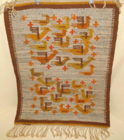 11. Ebay Vintage Polish kilim Original tags on the back. Made in Poland. Cepelia Corp. NY, NY. 33x25