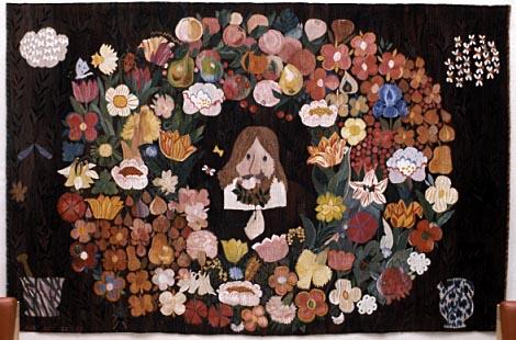 4. Den svenske örte-crantz av Ann-Marie Forsberg, gobelängväv