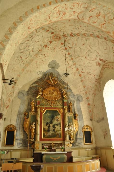 f. gärdslösa altaruppsatsen från 1764-66 av jonas berggren, skulptör och a.g.wadsten, målare uppladdad av- barbro thörn kk