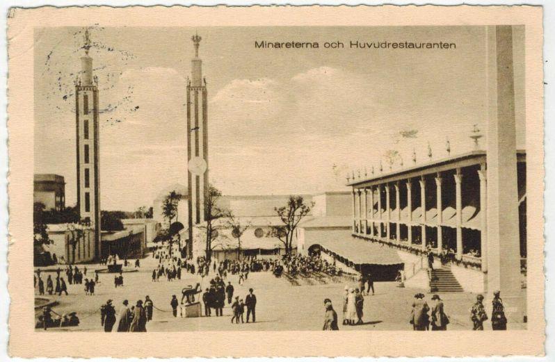 30 Gothenburg postcard of Minnarets 1923 fair ebay