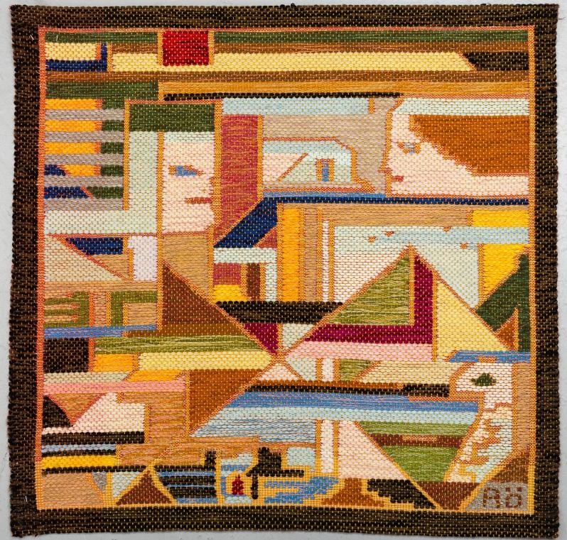"""12 Agda Osterberg 88 x 89.5tapestry """"Vavd tapet"""" Bukowskis 6-27-19"""